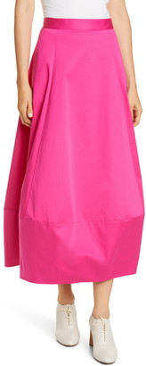 Co Bubble Poplin Midi Skirt