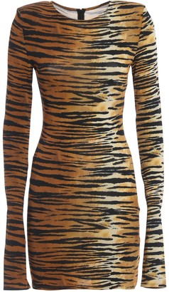 Alexandre Vauthier Tiger Print Bodycon Dress