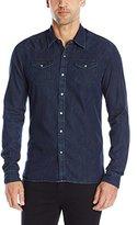 Scotch & Soda Men's Ams Blauw Denim Western Shirt