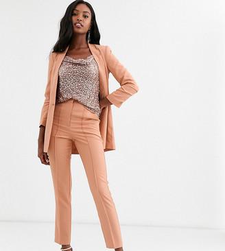 Asos Tall DESIGN Tall mix & match cigarette grazer suit pants-Pink