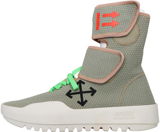 Off-White CST-001 Moto Wrap Grey Polyester Trainers