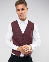 Selected Vest with Stretch in Slim Fit