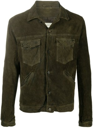 Giorgio Brato Buttoned Leather Jacket