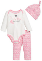 First Impressions Baby Girls' 3-Pc. Princess Hat, Bodysuit & Pants Set, Only at Macy's