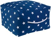 Kid Kraft Square Pouf - Navy with Stars