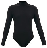 Norma Kamali High-neck Open-back Jersey Bodysuit - Womens - Black