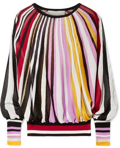 Carolina Herrera Striped Knitted Sweater - Pink