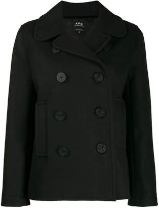 A.P.C. double-breasted regular-fit jacket