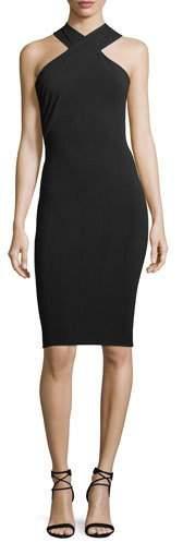 Alexander Wang Crisscross Sleeveless Body-con Stretch-Jersey Dress