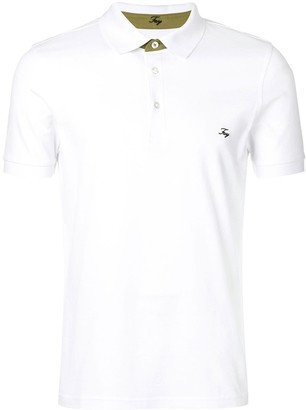 Fay logo embroidered polo shirt