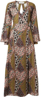 The Upside Mixed Floral-Print Wrap Dress