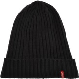 Levi's Levis Ribbed Beanie Hat Black