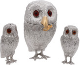 Comyns Silver - Owl Family Condiment Set