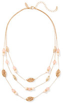 New York & Co. 3-Row Beaded Illusion Necklace