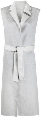 Fabiana Filippi Belted Sleeveless Coat