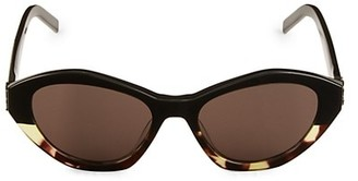 Saint Laurent 54MM Tortoise Cat Eye Sunglasses