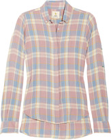 Plaid brushed-cotton shirt