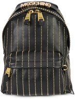 Moschino studded lines backpack - women - Leather - One Size