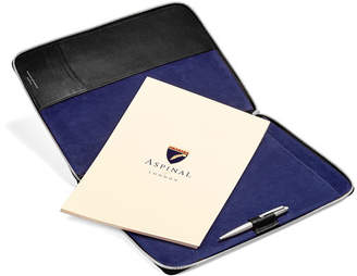 Aspinal of London Executive A4 Zipped Padfolio