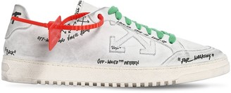 Off-White Off White GRAFFITI 2.0 LOW-TOP LEATHER SNEAKERS