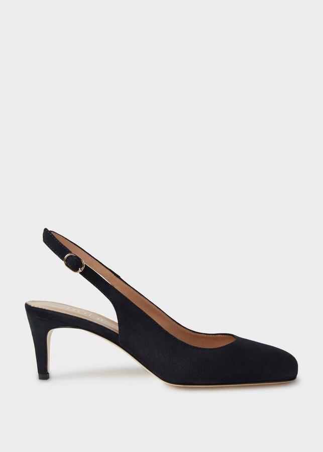 Hobbs Emma Suede Stiletto Slingback Court Shoes