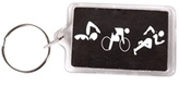 Bay Six Triathlon Figures Key Ring 27191
