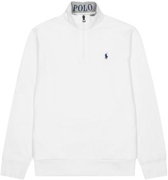 Polo Ralph Lauren White pique cotton sweatshirt