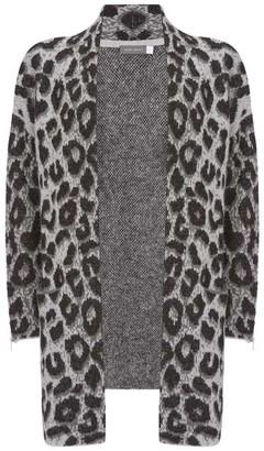 Mint Velvet Grey Leopard Open Cardigan