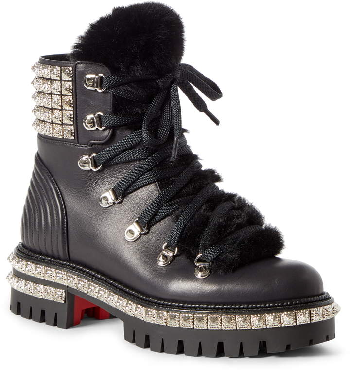best service 2fdc9 c82ce Yeti Studded Hiking Boot with Faux Fur Trim