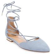 Mossimo Women's Gretel d'Orsay Ghillie Pointed Toe Lace Up Ballet Flats