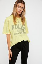 Police Tee by Retro Brand Black Label at Free People