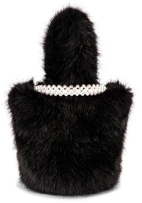 Shrimps Eva Faux Fur Bag in Black | FWRD