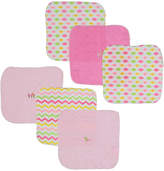 Sweet & Soft Pink Washcloth - Set of Six