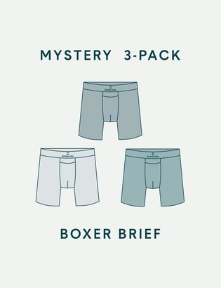 Tommy John Men's Second Skin Boxer Brief Mystery 3 Pack