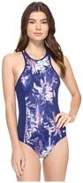 Roxy Keep It Back Zip One-Piece Swimsuit