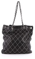 Chanel Pre-owned: Surpique Drawstring Bucket Bag Quilted Lambskin Large.