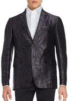 Etro Bamboo Palm Tree Silk Sportcoat