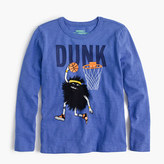 "J.Crew Boys' long-sleeve Max the Monster ""dunk"" T-shirt"