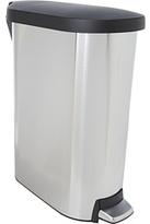 Simplehuman 45L Slim Step Trash Can w/ Plastic Lid - Fingerprint-Proof