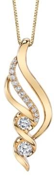 Sirena Diamond (3/8 ct. t.w.) Swirl Pendant in 14k Yellow Gold