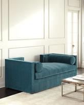 Regina-Andrew Design Regina Andrew Design Blue Lagoon Velvet Tufted Daybed