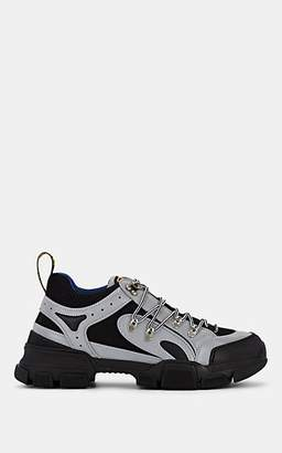 Gucci Men's Flashtrek Tech-Fabric & Mesh Sneakers - Gray