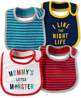 Carter's 4-Pk. Striped Teething Bibs, Baby Boys