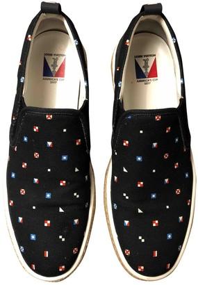 Louis Vuitton Navy Cloth Espadrilles