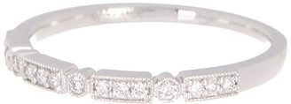 Bony Levy 18K White Gold Thin Diamond Stackable Ring - 0.14 ctw