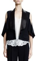 Givenchy Cold-Shoulder One-Button Jacket, Black