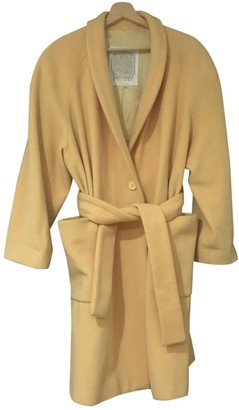 Gianfranco Ferre Yellow Wool Coats