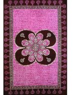Old Glory Blossomed Flower Batik Tapestry