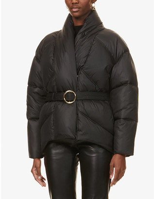 Frame Belted recycled nylon and polyester-blend puffer jacket