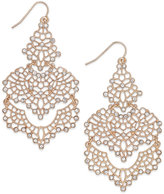 INC International Concepts Rose Gold-Tone Crystal Lace Chandelier Earrings